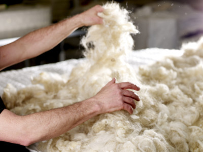 Wool Hand Teased Into A Mattress
