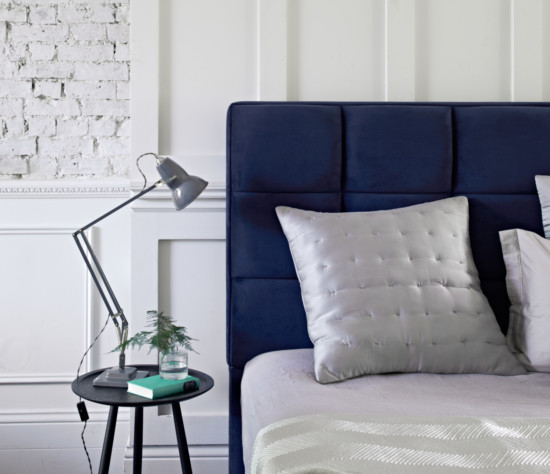 Somnus Roma Headboard Upholstered In Seven Navy Www Somnus Co Uk 3