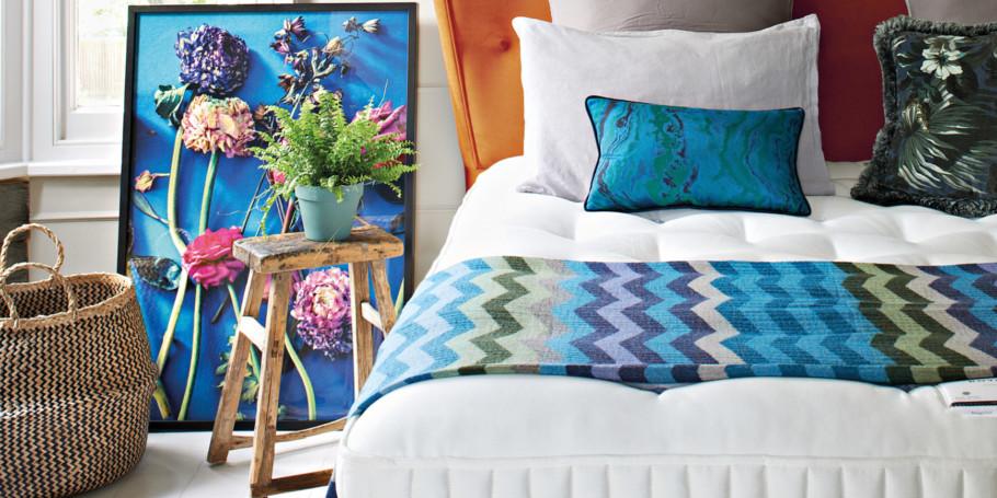 Somnus Victoria Headboard Upholstered In Seven Saffron Www Somnus Co Uk 1